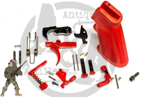 AR 15 Color Complete Lower Parts Kit W/ ELG FCG -Available in 60+ Colors